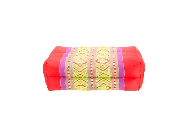 Retângulo travesseiro estilo tailandês com traçado de recorte