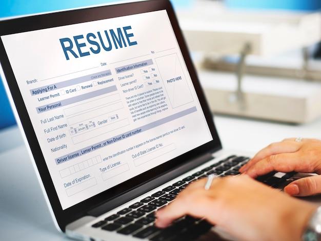 Retomar o conceito de formulário de emprego para inscrição