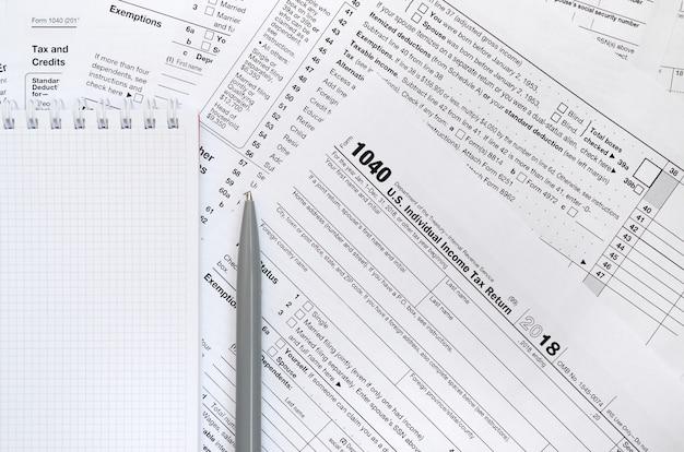 Retorno de imposto de renda individual dos eua