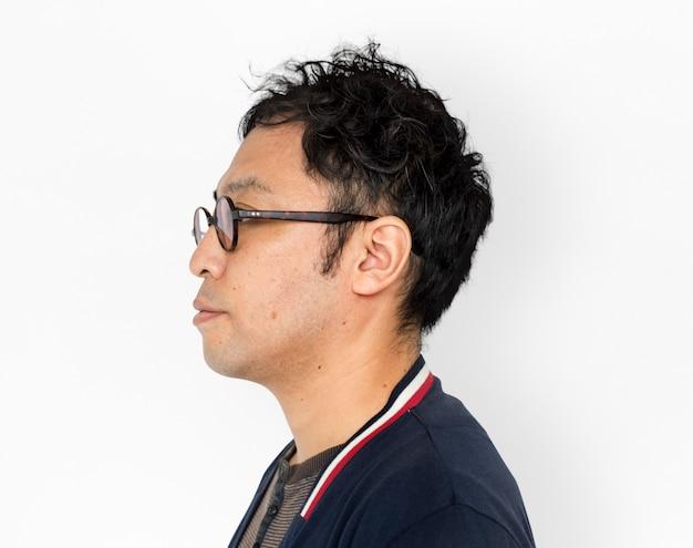 Retrato asiático foto permanente lado adulto