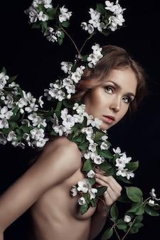 Retrato de arte beleza de mulher nua
