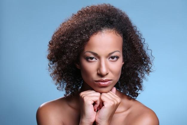 Retrato de beleza, maquiagem