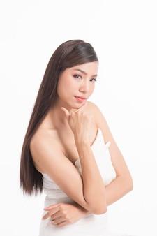 Retrato, de, beleza, mulher asian