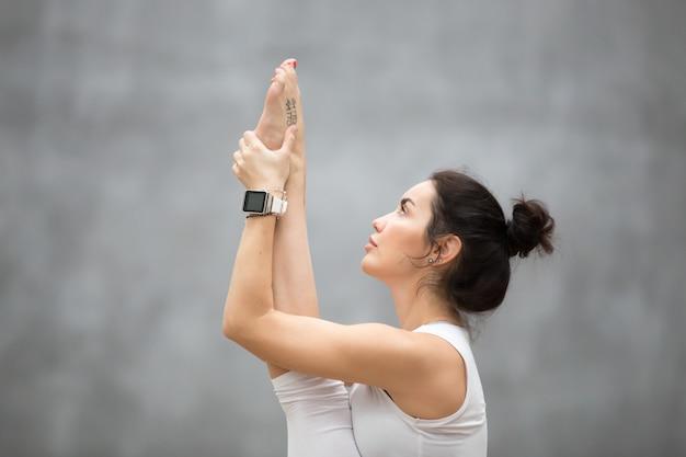 Retrato, de, bonito, ioga, mulher