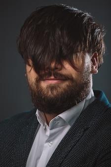 Retrato de cara peludo