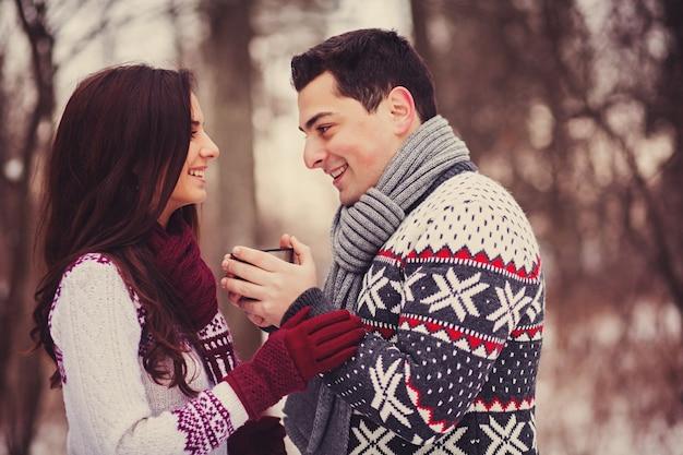 Retrato de casais felizes