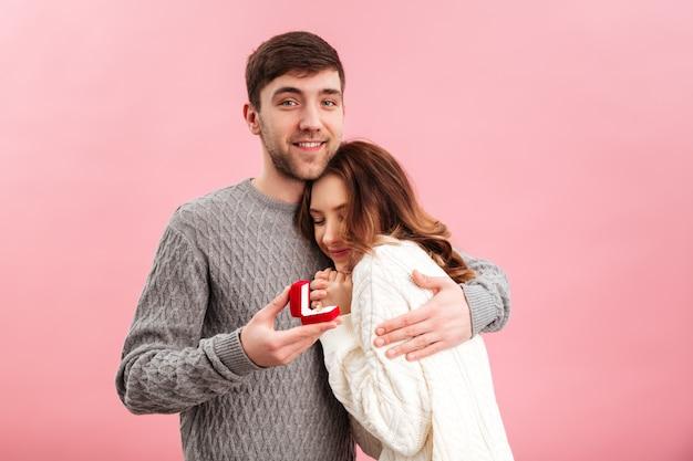 Retrato de casal adorável