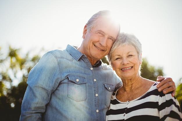 Retrato de casal feliz sênior