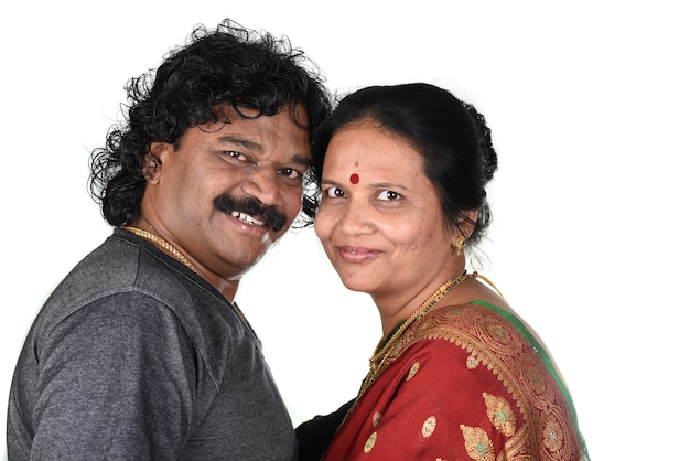 Retrato de casal indiano