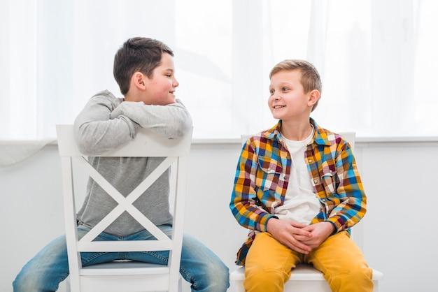 Retrato, de, dois meninos