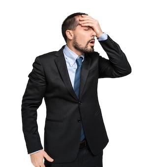 Retrato de empresário desesperado