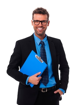 Retrato de empresário feliz
