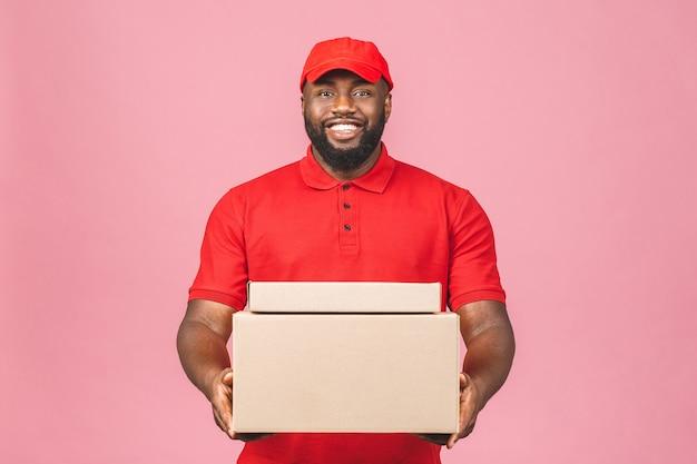 Retrato de entregador afro-americano