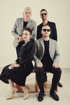 Retrato de grupo de banda de música