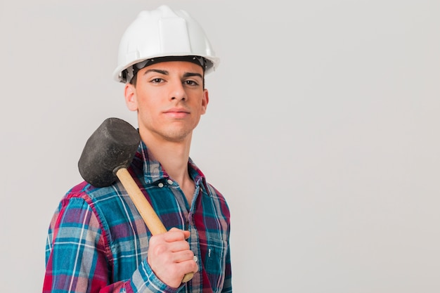 Retrato, de, handyman