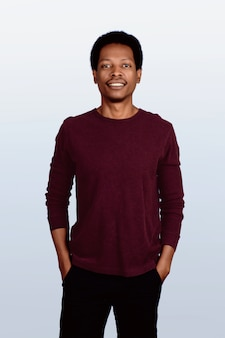 Retrato de homem afro-americano