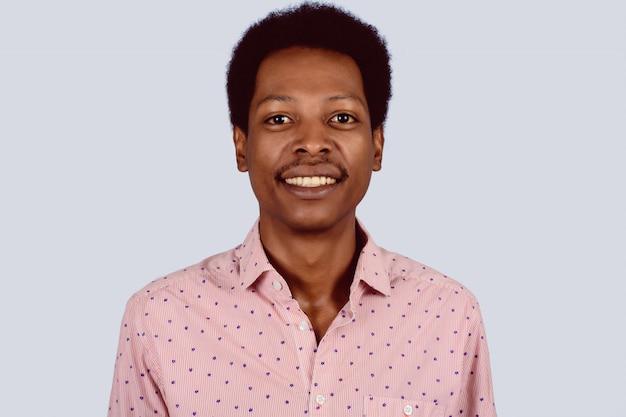 Retrato, de, homem americano africano