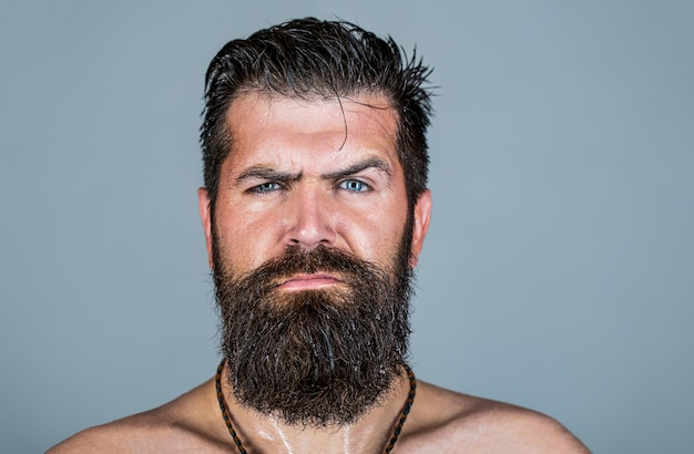 Retrato de homem barbudo