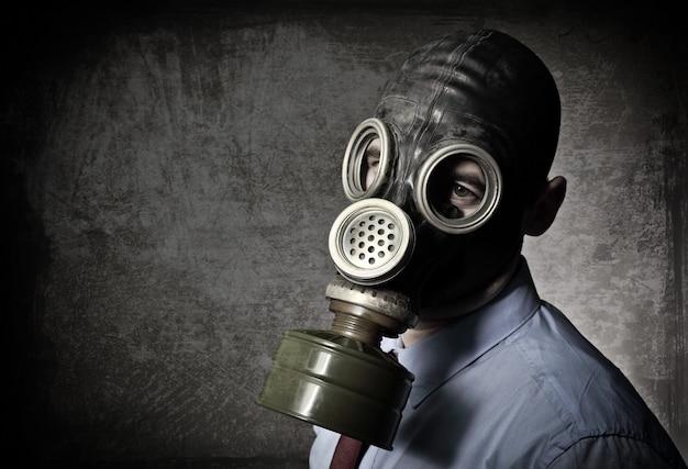 Retrato, de, homem, com, máscara