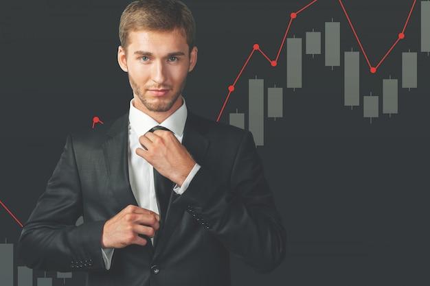 Retrato de homem de negócios jovem estressado isolado