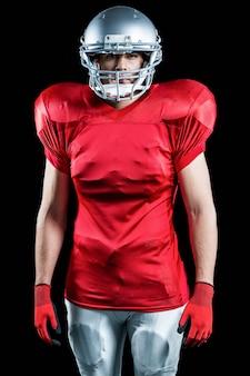 Retrato, de, jogador de futebol americano
