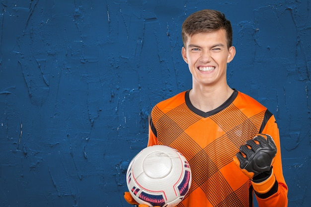 Retrato de jogador de futebol profissional
