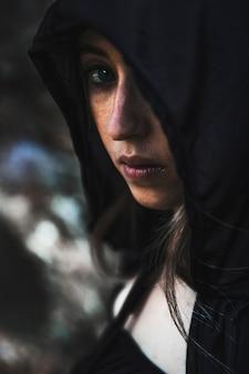 Retrato, de, jovem, sorceress