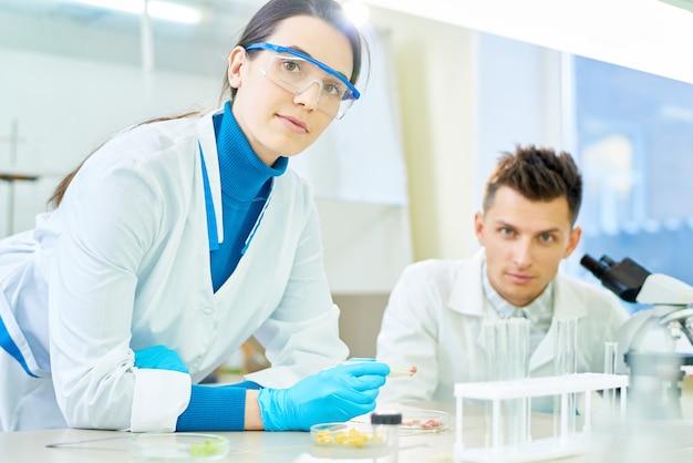 Retrato de jovens cientistas talentosos
