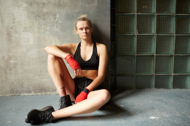 Retrato de lutador feminino