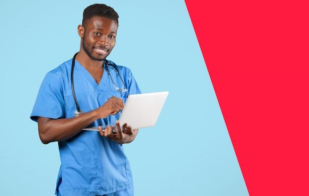 Retrato de médico africano