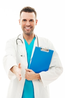Retrato de médico confiante