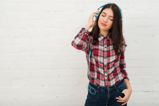 Retrato, de, menina adolescente