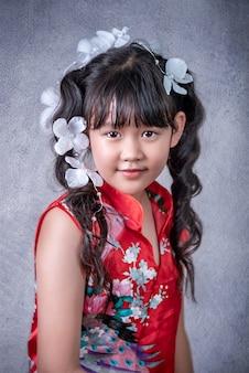 Retrato de menina asiática