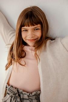 Retrato de menina bonita