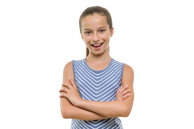 Retrato de menina linda criança