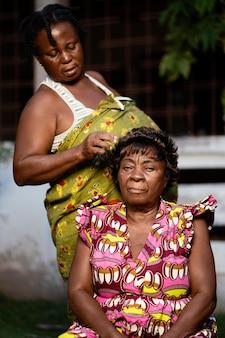 Retrato de mulher africana
