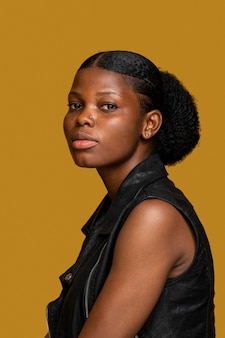 Retrato de mulher bonita africana