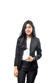 Retrato de mulher de negócios asiáticos com roupa formal