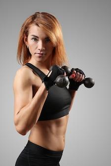 Retrato de mulher desportiva