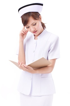 Retrato de mulher enfermeira asiática