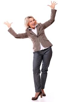 Retrato de mulher envelhecida feliz