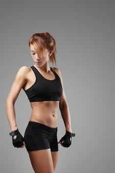 Retrato de mulher esportiva