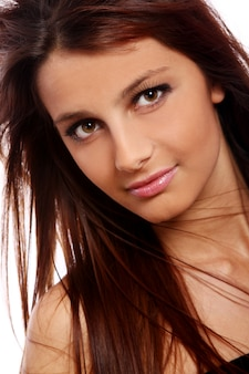 Retrato de mulher jovem e bonita