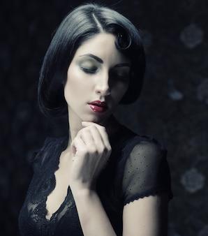 Retrato de mulher moda,