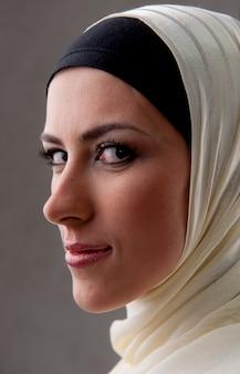 Retrato de mulher muçulmana