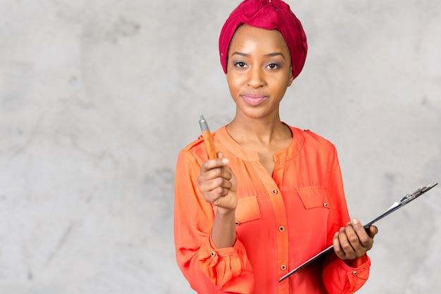 Retrato de mulher negra linda
