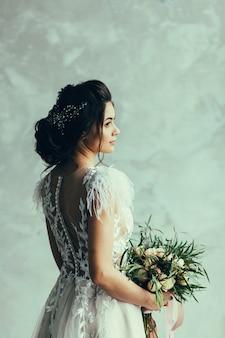 Retrato de noiva linda