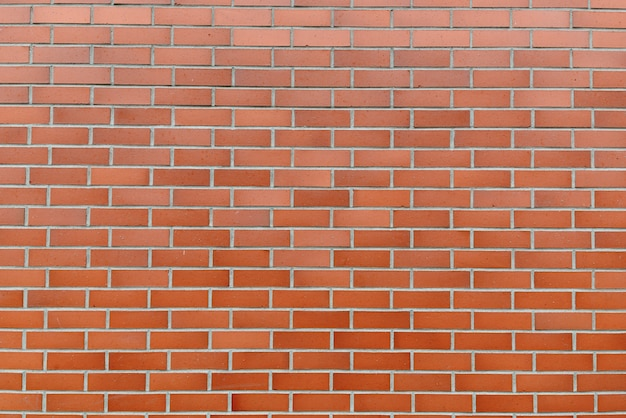Retrato de parede de tijolo marrom como parede abstrata ao ar livre