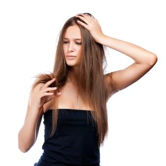 Retrato de penteado de chocado