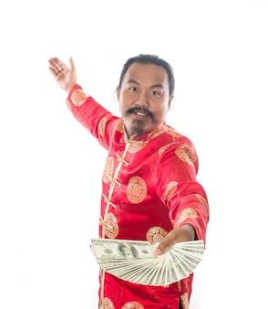 Retrato de pessoa adulta dólar branco